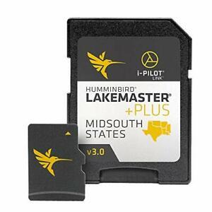 Humminbird LakeMaster Plus Mid-South States Edition Digital GPS Lake and Aeri...