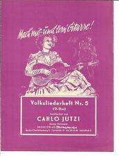 Notenblatt für Gitarre * Volksliederheft Nr. 5 * Noten für Gitarre