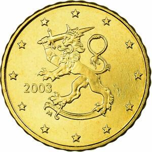 [#705356] Finlande, 10 Euro Cent, 2003, FDC, Laiton, KM:101