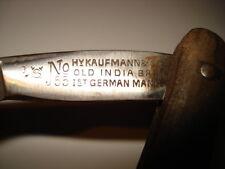 ANTIQUE STRAIGHT RAZOR No 55 Hy KAUFMANN&SON OLD INDIA BRAN Ist GERMAN MANUFRARE