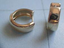 Klappcreolen Gold 333 Scharniercreolen 13 x 5 mm, Paar Ohrringe GOLD 333 poliert