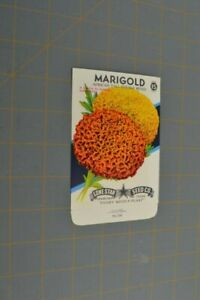 Marigold African Tall Double Mixed Lone Star Seed Co TX Vintage Paper Ephemera