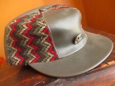 NEW vtg 70s GRAY VINYL CAP Hat ear flap skater logger lumberjack sz SMALL 6 5/8