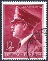 THIRD REICH Mi. #813 used Hitler's Birthday stamp!