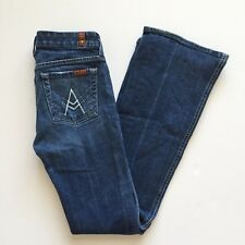 7 For All Mankind A Pocket Womens Jeans 24 Juniors Medium Wash Flare JG9