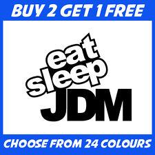 EAT SLEEP JDM qualsiasi colore euro RACE DRIFT Auto Paraurti Adesivo Finestra Vinile Decalcomania