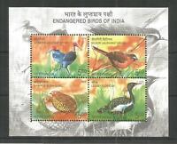 INDIA 2006 Endangered birds of India Fauna Miniature sheet MNH