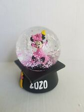Disney Minnie Mouse Cap and Gown Graduation 2020 Musical Snowglobe New in Box!
