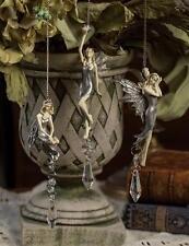 Set/ 3 Victorian Style Mid Summer's Night Fairies Crystal Hanging Suncatcher