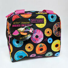 Betsey Johnson Insulated Lunch Tote W/ Food Container Donuts Krispy Kreme