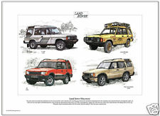 LAND ROVER DISCOVERY - Fine Art Print - Camel Trophy XS