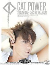 CAT POWER 2012 PORTLAND CONCERT TOUR POSTER - Chan Marshall