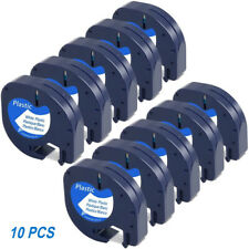 10pk Compatible Dymo Letratag Lt 100h Qx50 Refill 91331 Plastic Label Tape 12mm