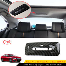 Carbon Fiber Rear Reading Light Lamp Cover Trim For Toyota Camry 2018 2019