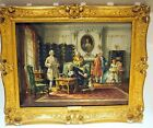"""A GAME OF CHESS FINE PAINTING BY LISTED BRITISH ARTIST""""VERNON WARD"""" 30.25X24.5"""""""