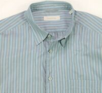 Ermenegildo Zegna Button Up Shirt Long Sleeve Striped Casual Men's Size XL