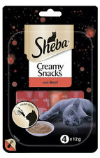 Sheba Creamy Snacks Beef Cat Treats - 4 x 12g
