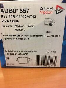 Allied Nippon Rear brake pads Ford Mondeo 04-07 And Jaguar X Type ADB01557