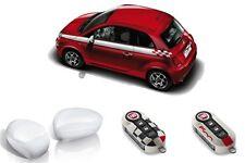 005 GENUINE Fiat 500 White Sport Pack Side Stripes, Mirror & Key Covers 71807471