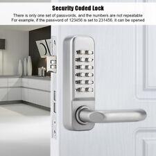 Keyless Door Lock Mechanical Digital Code Keypad Password Security Hardware