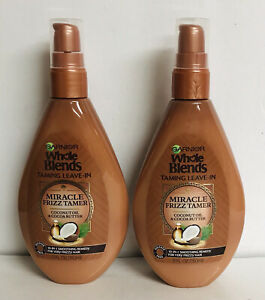 2-Pack Garnier Whole Blends ~10-in-1 Miracle Frizz Tamer Leave-in w/ Coconut Oil