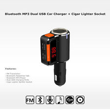 Bluetooth Dual USB Car Charger MP3 FM Transmitter w/ Cigarette Lighter Splitter