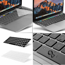 2x Pcs Waterproof Clear Silicone Keyboard Cover Skin Macbook Pro 13 15 Touch Bar