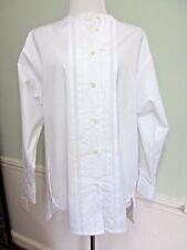 THOMAS MASON FOR J. CREW Collarless TUXEDO SHIRT Style B3520 White Size 2 NWT
