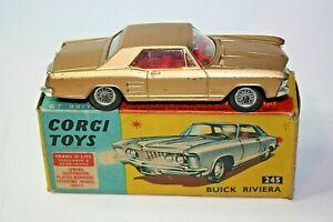 Corgi 245 Buick Riviera, Good Condition in Original Box