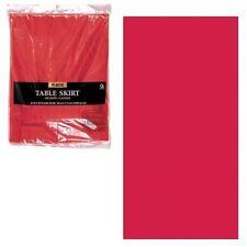 plastique rouge TABLE NAPPE frange 14FT Décoration Fête d'anniversaire