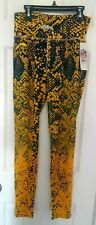 Los Angeles Chargers Women Leggings Zubaz Size Medium Tights Yoga Pants Majestic