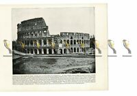 Colosseum, Exterior, Rome, Italy, Book Illustration, (Print), 1899
