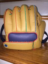 """BACK TO SCHOOL BASEBALL GLOVE BACKPACK ADJUSTABLE STRAP ZIP COMPARTMENT 10.5x11"""""""