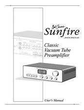 Carver Sunfire Classic Tube Preamp Amplifier Owners Manual