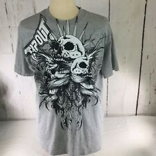 TapouT MMA Made In USA Grey Black Graphic Short Sleeve TShirt  Size Large