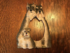 Schnauzer Dog Picture Frame Plate