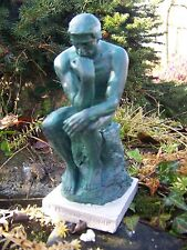 RE0008    FIGURINE STATUETTE REPRODUCTION RODIN LE PENSEUR   STYLE BRONZE