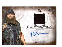 WWE Bray Wyatt 2016 Topps Undisputed Bronze Autograph Relic Card SN 41 of 99