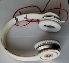Monster Dre Beats Solo with ControlTalk Headphones White - NO SOUND - SOLD-AS-IS