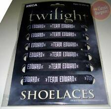 TWILIGHT =Team Edward BLACK FAT SHOELACES= New & Sealed