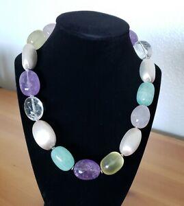 Paola Valentini Italian Designer Quartz and Silver Necklace