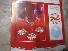 8 Counts Holiday Time Christmas Wine Tags- Paper Wine Glass