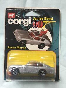 Corgi Juniors JAMES BOND 007 Aston Martin #40 Vintage Diecast Car MOC
