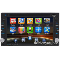 "Double 2Din 6.2"" Stereo Car DVD Player Bluetooth Radio iPod SD/USB GPS FM"