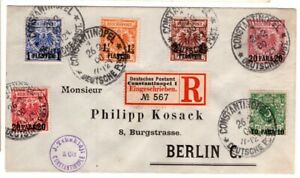 1900 German Offices in Turkey Cover Registered Constantinople - Berlin 6 Stamps