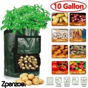 10 Gallon Planting Bag Growing Bags Potato Tomato Veg Garden Balcony Planters UK