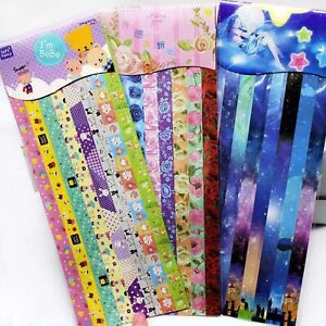 240 Pcs Lovely Folding Paper Lucky Wish Star Cute Origami Paper Crafts Various