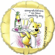 """Newton's Law CONGRATULATIONS ON YOUR WEDDING DAY Round Foil Helium Balloon 18"""""""