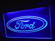 Ford Car Log LED Neon Light Sign Bar Club Pub Advertise Decor Hang Home Gift Set