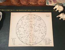 Original 1880 Antique Celestial STAR MAP Capricorn Sagittarius Aquarius Pisces